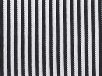 Anthology Be Colourful Stripe Fabric - Black and White Magic Stripe 1/8
