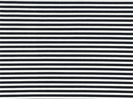 Timeless Treasures Black & White Stripe Fabric (1/8
