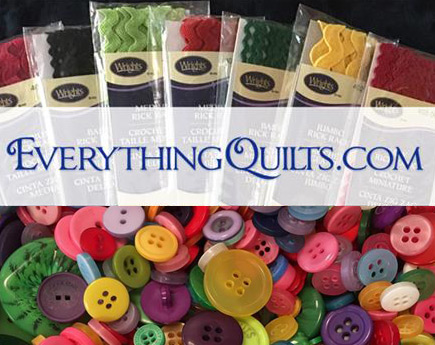 Rick Rack & Button Embellishment Set - EQ Exclusive for Kimberbell Bench Pillow Series