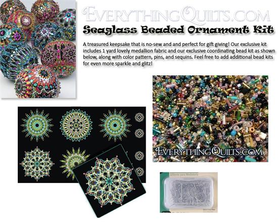 Beaded Ornament Kit - Seaglass - EQ Exclusive!