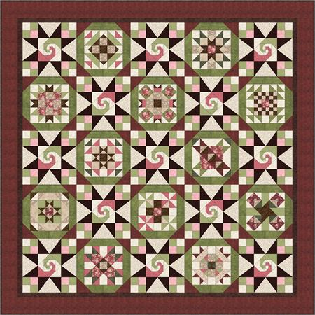 Neopolitan Swirl *Finishing* Quilt Kit for Patchwork Party Blocks ... : fons and porter quilt kits - Adamdwight.com