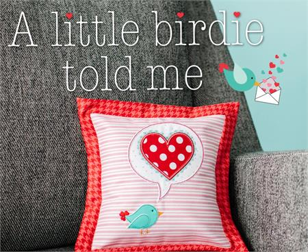 FREE Kimberbell A Little Birdie Told Me Pillow ePattern - Machine Embroidery Version