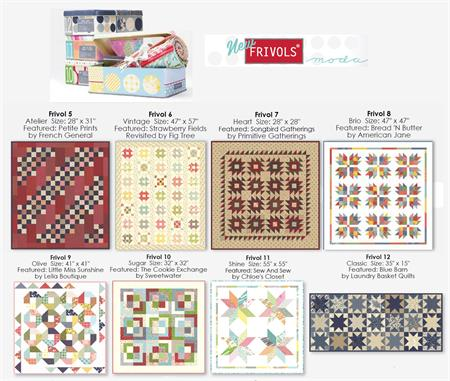 Moda Frivols Collectable Small Quilts at Everything Quilts