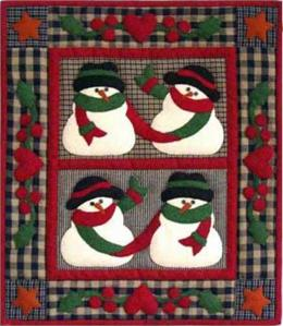 Snow Friends Wallhanging Quilt Kit