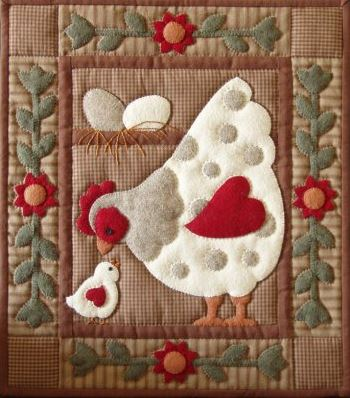Spotty Hen Wallhanging Quilt Kit