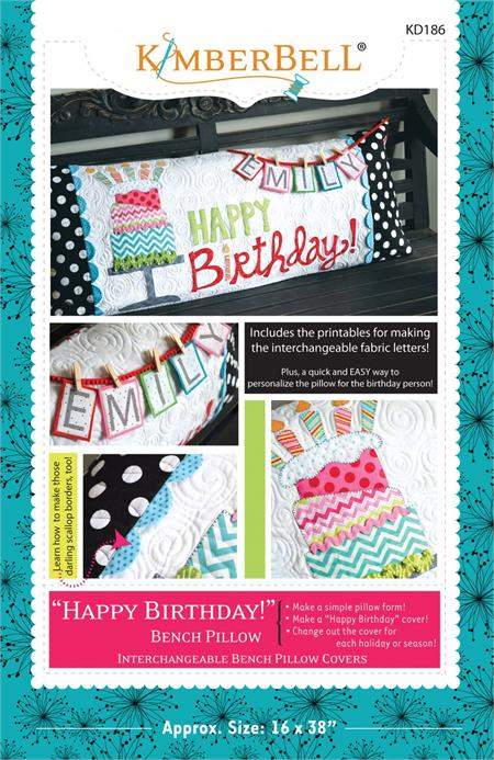 Kimberbell Bench Pillow PATTERN - Happy Birthday
