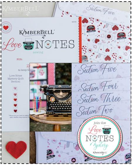 Kimberbell Love Notes PATTERN SET - SEWING VERSION