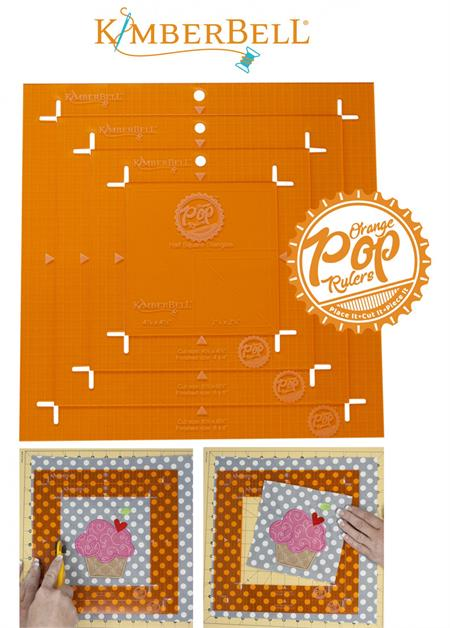 Kimberbell Orange Pop Rulers Set - SQUARE - Makes Your Block Placement and Trimming a Breeze