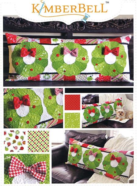 Kimberbell Bench Pillow PATTERN - December Deck the Halls - Pre-cut & Pre-fused Appliques