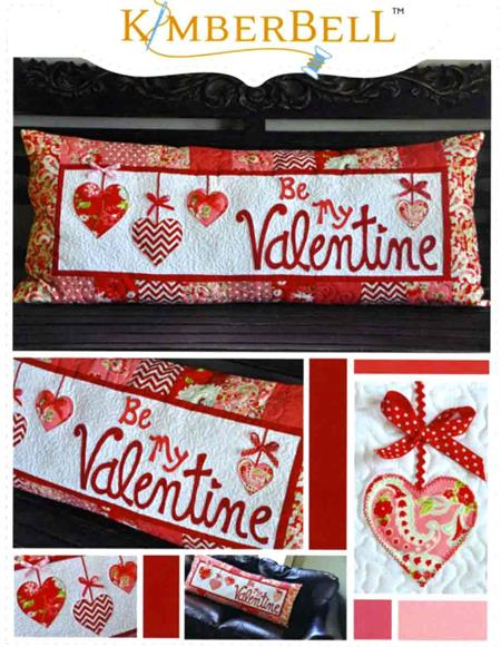 Kimberbell Bench Pillow Kit - Be My Valentine - February - Pre-cut & Pre-fused Appliques!