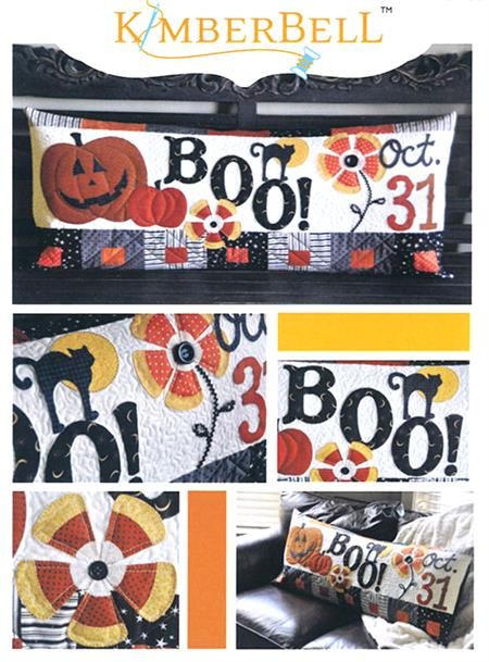 October Halloween Boo Kimberbell Bench Pillow Kit - Pre-cut & Pre-fused Appliques