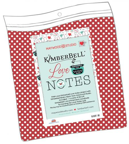Kimberbell Love Notes Quilt BACKING FABRIC