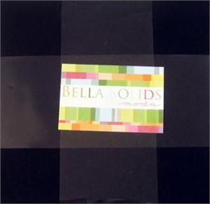 Moda Bella Solids Fabric Layer Cake - Black 10 x 10