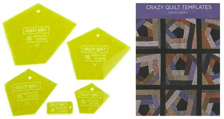 MSQC Crazy Quilt Templates and Pattern Set