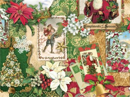 Hoffman Digital Fabric Print - Enchanted Ornaments - Antique St Nick