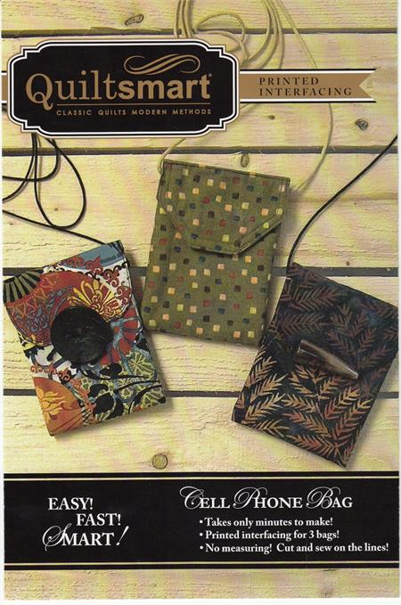 Quiltsmart Cell Phone Bags Pattern Set (makes 3)