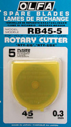 Olfa Rotary Cutter 45mm Blades - 5-Pack