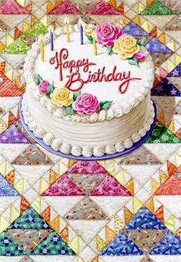Birthday Cake Quiltscapes Notecard Set