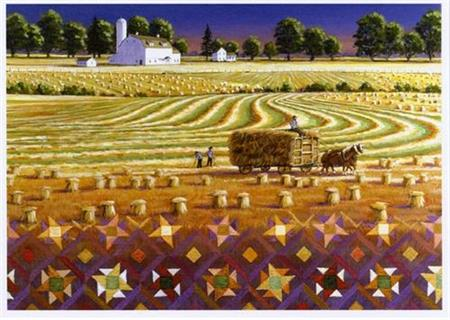 Wheat Field Quiltscapes Notecard Set