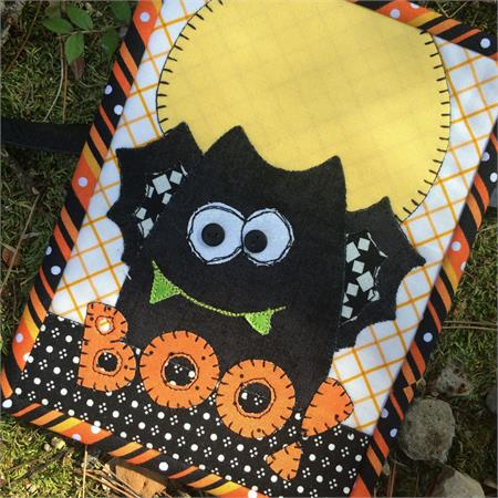 BOO Bat Mug Rug Kit - Pre-cut & pre-fused Applique!