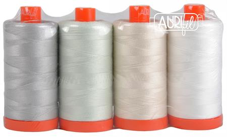 Aurifil Light Work 50wt Cotton Thread Set (4 spool set)