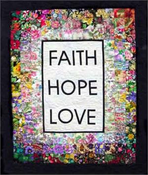Faith, Hope & Love Watercolor Quilt Kit