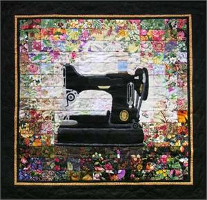 Grandma's Sewing Machine Watercolor Quilt Kit