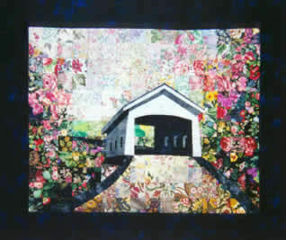 Covered Bridge Watercolor Quilt Kit