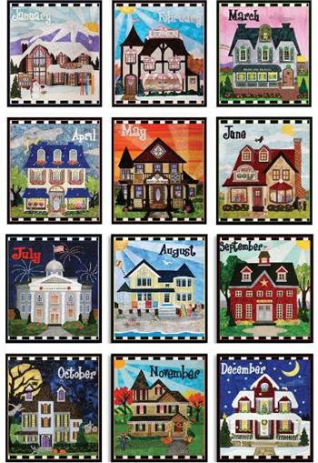 Holiday Houses Block-of-the-Month - Includes Pre-cut & Pre-fused Appliqués