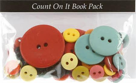 Hand-Dyed Button Embellishment Pack for the Count On It Book (85 pc)