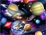 Elizabeth's Studios In Space Fabric - Planets