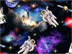 Elizabeth's Studios In Space Fabric - Astronauts