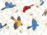 Moda Share the Joy Fabric - Snow White Birds
