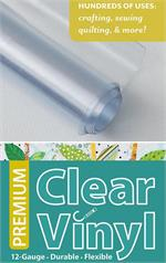 Quilters Clear Vinyl Roll