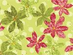 Benartex Nancy's Holiday Favorites Flannel Fabric - Poinsettias Mint