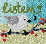 LISTEN Quilt Block Kit from the Imagine Series by Nancy Halvorsen