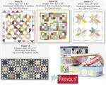 Moda Frivols 9-10-11-12 Quilt Kit Tins 4-Pack - Includes Finishing Kits!