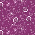 MS Kimberbell Basics Fabric - Violet Red Doodles