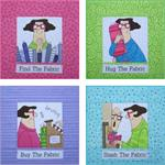 Fabric Addict Wall Hanging and Tote Bag Pattern
