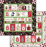 Kimberbell We Whisk You a Merry Christmas Quilt Kit with Black or White Border