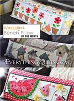 Kimberbell Bench Pillow Quilt Kit - Includes 12 Pillow Kits with Pre-cut & Pre-fused Appliqués