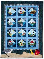 Lighthouses Quilt Kit - Includes Pre-cut & Pre-fused Appliqués