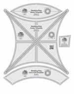 Creative Grids Double Wedding Ring Templates Quilt Ruler for Judy Neimeyer Patterns