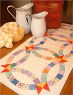 Twin Double Wedding Ring Quilt Kit Easy To Cut Easy To Sew At