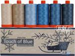 Touch of Blue Aurifil 6 Thread Collection by Edyta Sitar