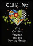 Quilting Friends Notecard - SINGLE CARD w/ENV