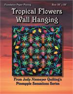 Tropical Flowers Quilt Pattern