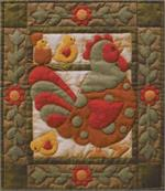 Spotty Rooster Wallhanging Quilt Kit