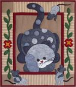 Spotty Cat Wallhanging Quilt Kit