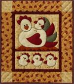 Chicken Coop Wallhanging Quilt Kit